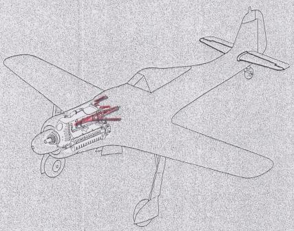 Fw190D9エンジンユモ213支持架